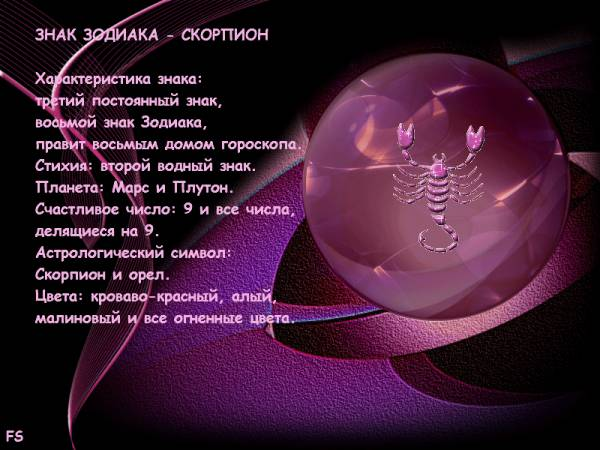 Описание скорпион знак зодиака